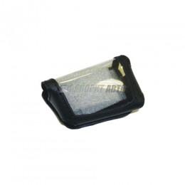 Чехол для брелка автосгнализации  SCHER-KHAN  Magicar 5/6 кобура на подложке, кожа черная  арт.16501п