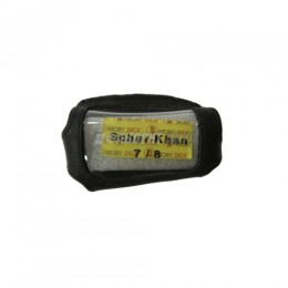 Чехол для брелка автосгнализации SCHER-KHAN Magicar 7/8 кобура на подложке, кожа черная  арт.16502 п