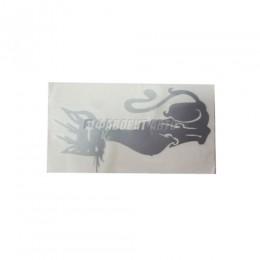 Наклейка  Кошечка №1  белый  (90х165) плоттер