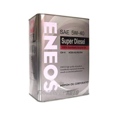 Моторное масло ENEOS Syntetic 5W-40, 4л, синтетическое