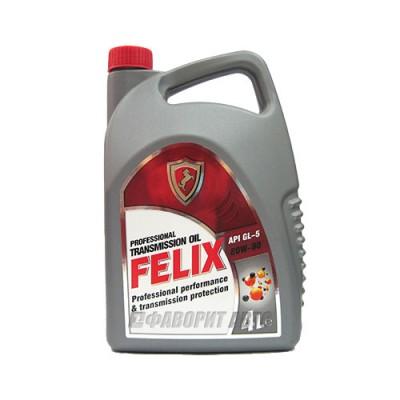 Трансмиссионное масло FELIX 80W-90, 4л, минеральное