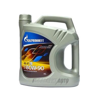 Трансмиссионное масло Gazpromneft 80W-90, 4л, минеральное
