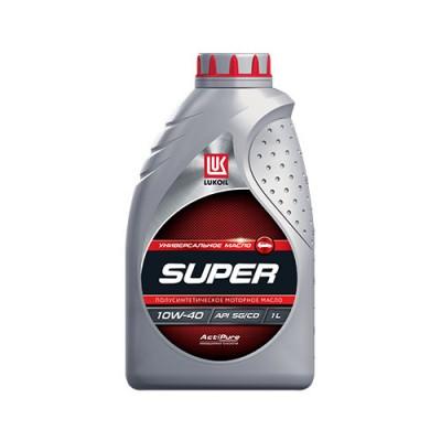 Моторное масло Лукойл СУПЕР 10W-40, 1л, полусинтетическое