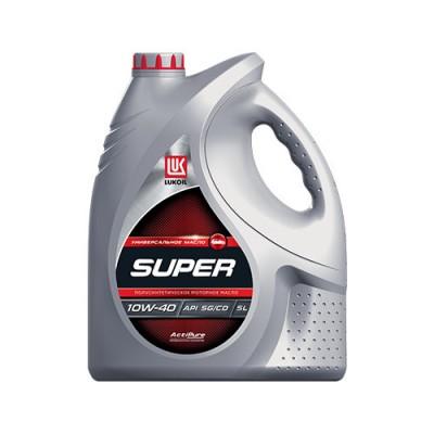 Моторное масло Лукойл СУПЕР 10W-40, 5л, полусинтетическое