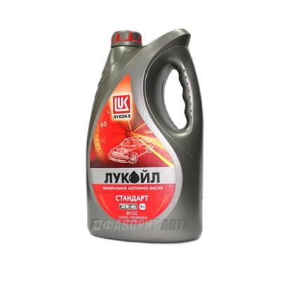 Моторное масло Лукойл СТАНДАРТ 10W-40, 4л, минеральное