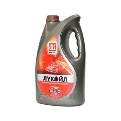 Моторное масло Лукойл СУПЕР 15W-40, 4л, минеральное