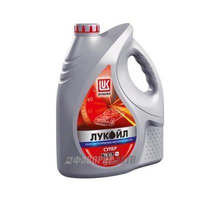 Моторное масло Лукойл СУПЕР 5W-40, 5л, полусинтетическое