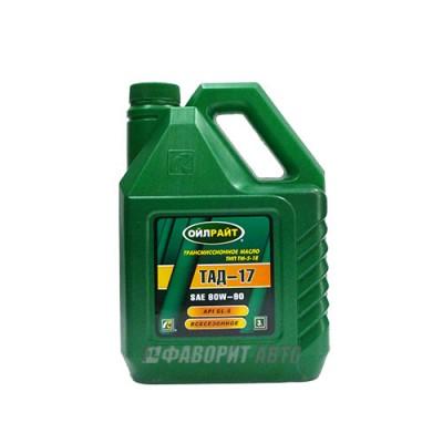 Трансмиссионное масло OIL RIGHT ТАД-17 ТМ-5-18, 3л, минеральное