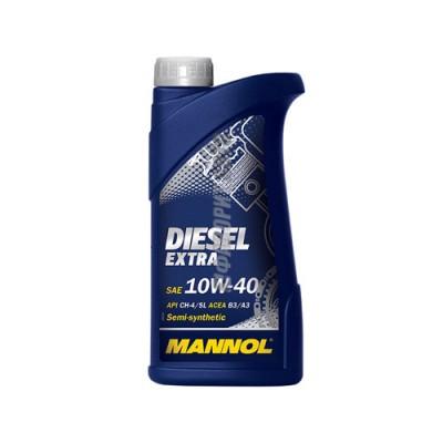 Моторное масло MANNOL Diesel Extra 10W-40, 1л, полусинтетическое