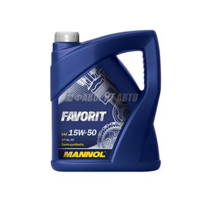 Моторное масло MANNOL Favorit 15W-50, 5л, полусинтетическое