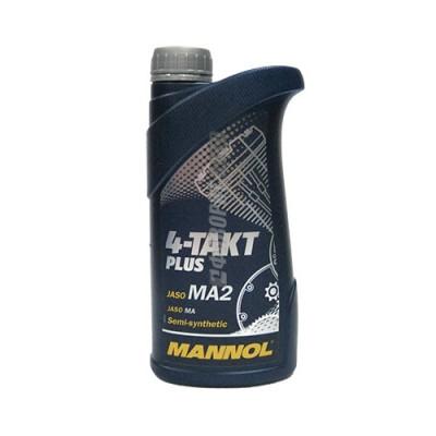 Моторное масло MANNOL 4-TAKT Plus, 1л, полусинтетическое