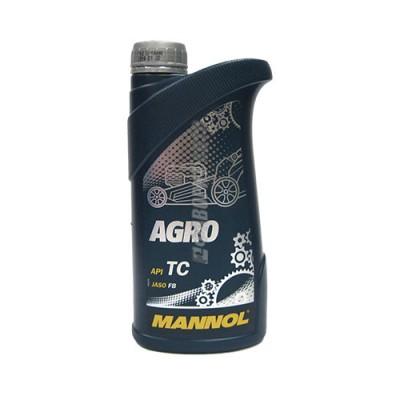 Моторное масло MANNOL 2Т AGRO для сельскохозяйственной техники, 1л, синтетическое