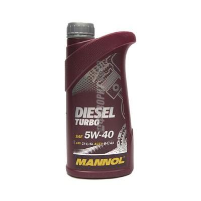 Моторное масло MANNOL Diesel Turbo 5W-40, 1л, синтетическое