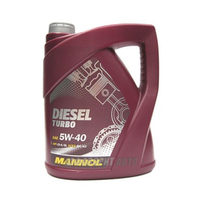 Моторное масло MANNOL Diesel Turbo 5W-40, 5л, синтетическое