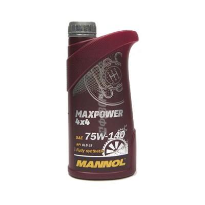 Трансмиссионное масло MANNOL 75W-140 Maxpower 4x4, 1л, синтетическое