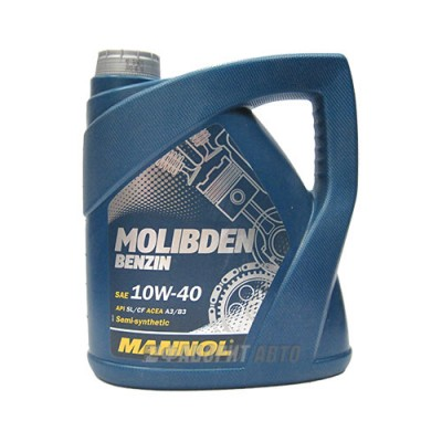 Моторное масло MANNOL MOS Benzin 10W-40, 4л, полусинтетическое