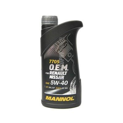 Моторное масло MANNOL O.E.M. for Renault, Nissan, Infiniti 5W-40, 1л, синтетическое