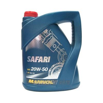 Моторное масло MANNOL 20W-50 Safari, 5л, минеральное