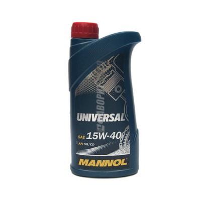 Моторное масло MANNOL Universal 15W-40, 1л, минеральное
