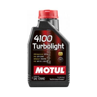Моторное масло MOTUL 4100 Turbolight 10W-40, 1л, полусинтетическое