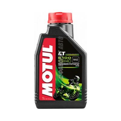 Моторное масло MOTUL 5100 Ester 4T 10W-40, 1л, полусинтетическое
