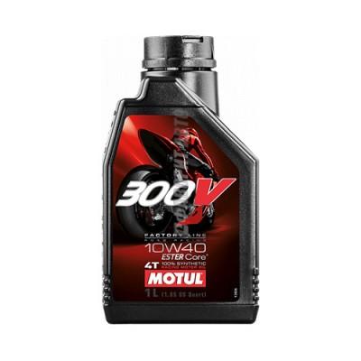 Моторное масло MOTUL 300V 4T FL Road Racing 10W40, л, синтетическое