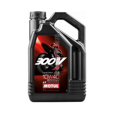 Моторное масло MOTUL 300V 4T FL Road Racing 10W40, 4л, синтетическое