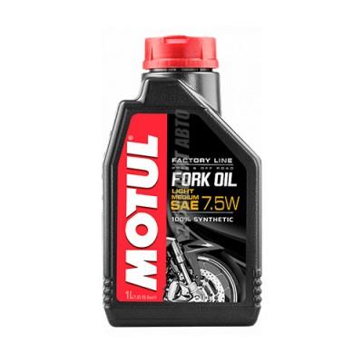 Гидравлическое масло MOTUL Fork Oil light/medium Factory Line 7,5W, 1л, синтетическое