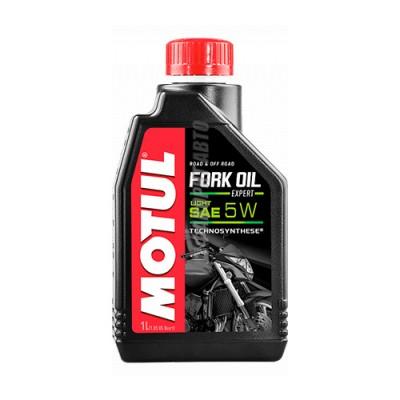 Гидравлическое масло MOTUL Fork Oil Expert light 5W, 1л, полусинтетическое