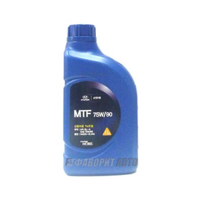 Трансмиссионное масло HYUNDAI Gear Oil MTF 75W-90, 1л, синтетическое