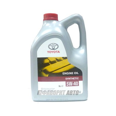 Моторное масло TOYOTA ENGINE OIL 5W-40, 5л, синтетическое