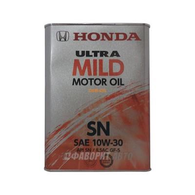 Моторное масло HONDA ULTRA MILD 10W-30, 4л, полусинтетическое