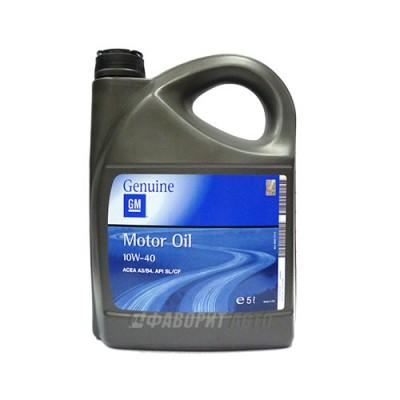 Моторное масло GM Semi Synthetic 10W-40, 5л, полусинтетическое