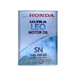 HONDA  Ultra MOTOR OIL LEO-SN 0W-20, 4л (0821799974) син. Япония