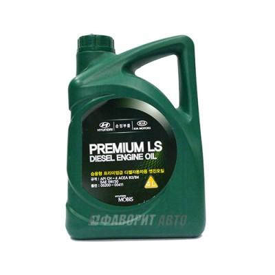 Моторное масло HYUNDAI Premium LS Diesel 5W-30, 4л, полусинтетическое
