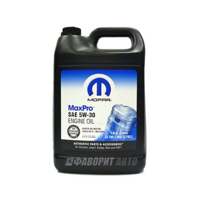Моторное масло MOPAR Max Pro Chrysler 5W-30, 5л, синтетическое