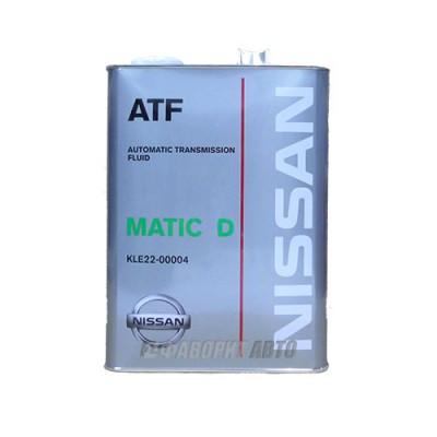 Трансмиссионное масло NISSAN ATF Matic Fluid D, 4л, минеральное