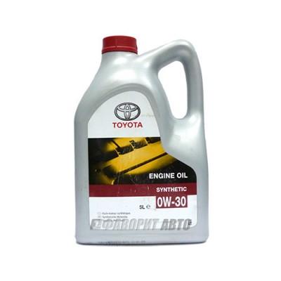 Моторное масло TOYOTA ENGINE OIL 0W-30, 5л, синтетическое