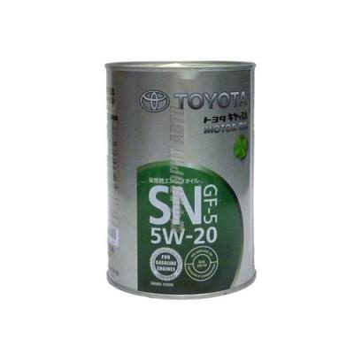 Моторное масло TOYOTA MOTOR OIL 5W-20, 1л, синтетическое