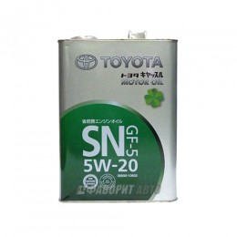 TOYOTA  MOTOR OIL  5W-20  SN/GF-5  4л  (0888010605) синт. Япония