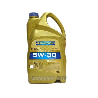Моторное масло RAVENOL FEL 5W-30, 4л, синтетическое