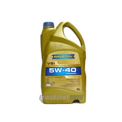 Моторное масло RAVENOL VSI 5W-40, 4л, синтетическое