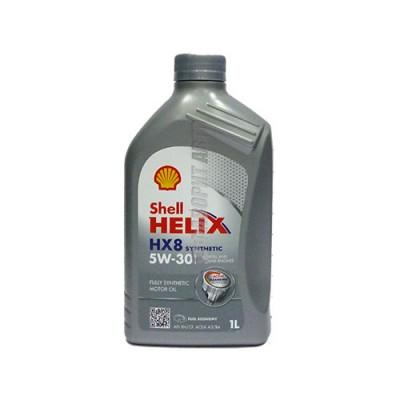 Моторное масло SHELL Helix HX8 5W-30, 1л, синтетическое