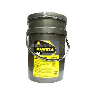 Моторное масло SHELL Rimula R6 M 10W-40, 20л, синтетическое