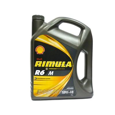 Моторное масло SHELL Rimula R6 M 10W-40, 4л, синтетическое