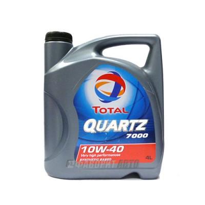 Моторное масло TOTAL Quartz 7000 10W-40, 4л, полусинтетическое