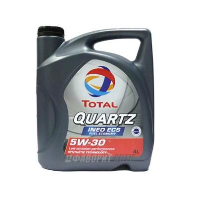 Моторное масло TOTAL Quartz INEO ECS 5W-30, 4л, синтетическое
