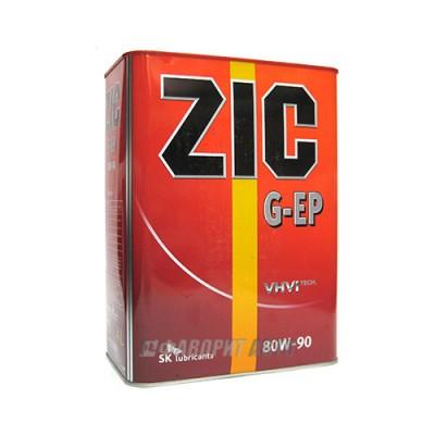 Трансмиссионное масло ZIC 80W-90 EP, 4л, синтетическое
