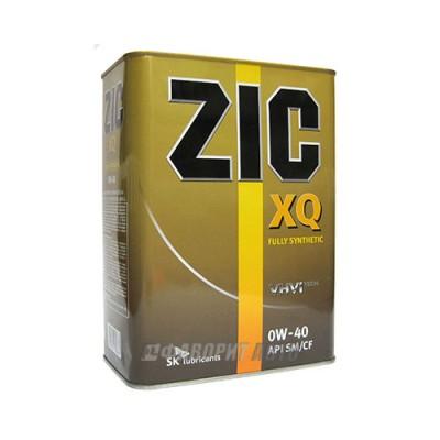 Моторное масло ZIC XQ 0W-40, 4л, синтетическое
