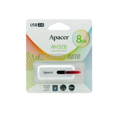 Флеш Apacer USB 8GB AH326 White 539